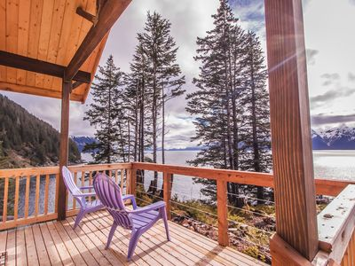 Photo for The Fox Den!  Beautiful Remote Ocean Front Cabin On Resurrection Bay!