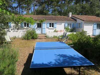 Photo for Direct acces beach and Noirmoutier.6p,discount 4pers,nice garden,terrace,vine
