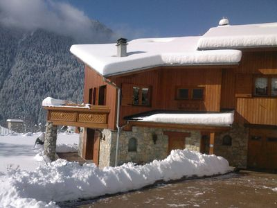 Photo for Large sunny chalet of 220 m², spa, sauna and swimming pool