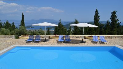 Photo for Lovely Quiet & Private Villa with Pool and Spectacular Panoramic Sea Views