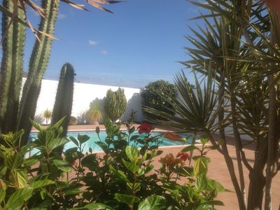 Photo for Casa Scorchio:Heated private pool Free Aircon & Wi-Fi roof terrace 15 min beach