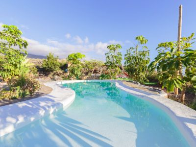 Photo for Ocean view panorama villa in a subtropical oasis on the sunny side of la Palma