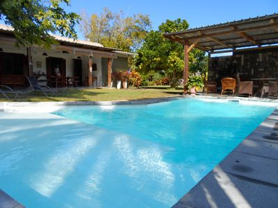 Photo for Pretty Bungalow for 2 or 4 p. with private pool, in a beautiful piece of nature