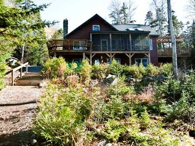Photo for Private vacation home right on Mooselookmeguntic Lake
