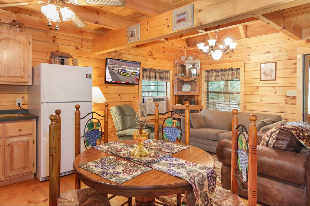 Private log cabin next to trout stream fishing on property for Private cabin rentals in tennessee