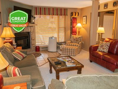 Photo for 3BR/2BA Sleeps 8 Wi-Fi Parking Washer/Dryer Fireplace - Short Walk to Village!