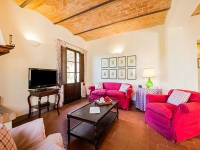 Photo for small village of beautiful apartments in the green Tuscan hills and olive groves