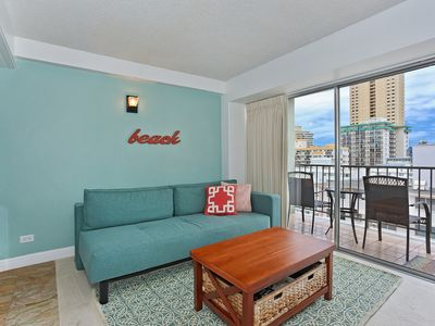 Ocean and City Views from this Comfortable Waikiki Condo & Free Parking!