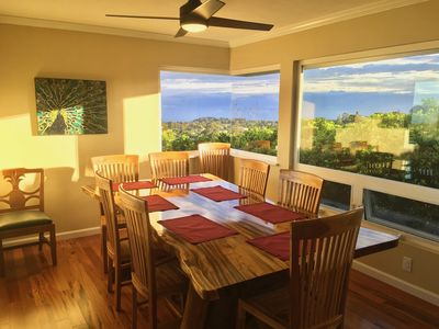 New dining room opens up upcountry & north shore ocean views with corner window.