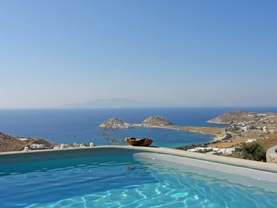Photo for Magnificent villa with spectacular views of the Aegean Sea