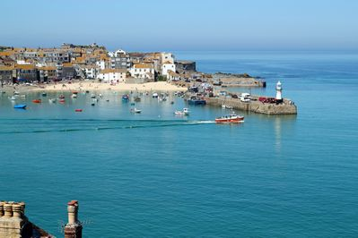 View of St.Ives as you approach the town
