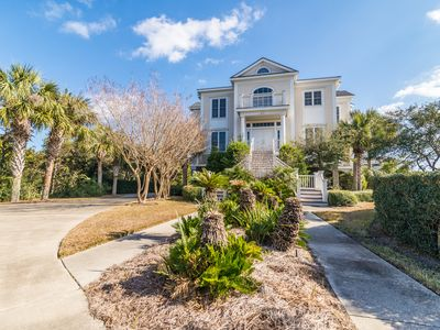 Photo for Six bedroom home across from the beach in DeBordieu