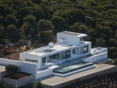 Photo for Spectacular, new, large modern house, sleeps 12, infinity pool, Zante