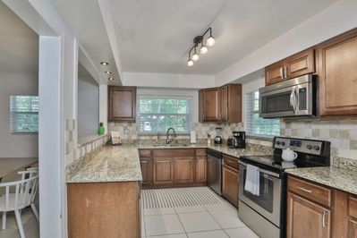 Ample counter space to enjoy a meal at home.