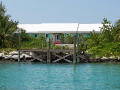 Photo for On the Rocks - Idyllic Cottage - Overlooking the Sea of Abaco with a Boat Dock