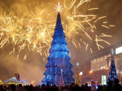 Photo for New Year's apartment in the center of Kharkov:)