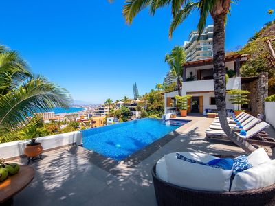 Photo for FREE NIGHTS!!! OCEAN VIEWS - LUXURY AND PRIVATE HILLSIDE VILLA 5 BD -