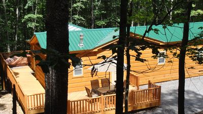 Photo for Secluded log cabin w/hot tub. near Cacapon State Park.   Small pet considered