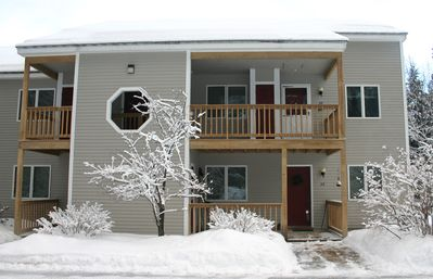 View front of Condo in Winter