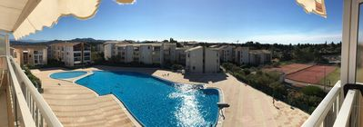 Photo for Beautiful 3 rooms (50m2), terrace, Gde pool, tennis landscaped residence