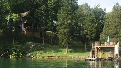 Photo for Waterfront Home. 6BR/5B, 2 Story Dock, Sleeps 19. No stairs to water.