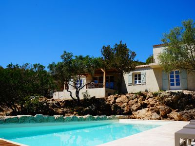 Photo for Beautiful Villa with Pool - Sea View - PALOMBAGGIA