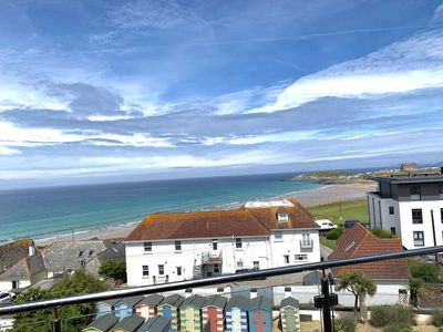Photo for Luxury 4 bedroom penthouse apartment with far-reaching views of Fistral Beach and beyond.