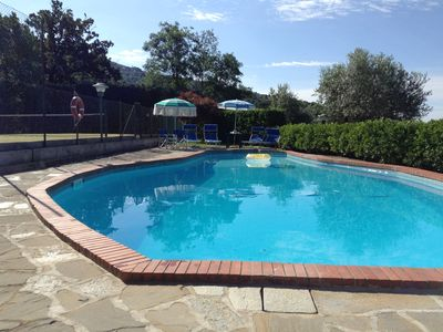 Photo for Pian di Sco farmhouse with private pool and tennis court