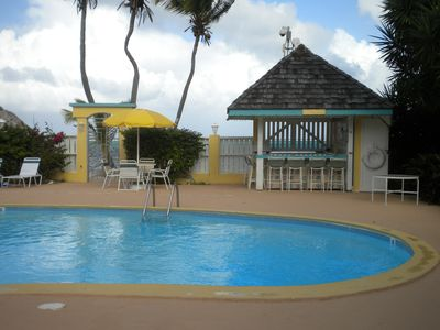 Our pool is steps from the beach. Bring down your cooler and make new friends.