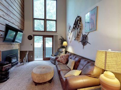 Photo for NEW LISTING! Relax in mountain view condo w/ nordic skiing, tubing nearby