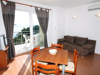 Photo for One bedroom apartment with terrace and sea view Bušinci, Čiovo (A-4863-b)