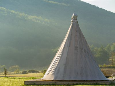 Photo for Lakota tipi at luxury nature resort at the heart of the wilderness