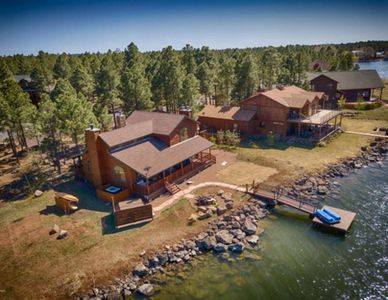 Photo for Lake Front Cabin with Dock and Jacuzzi