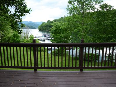 Photo for Best Lake Front 3 Bedroom Cabin w/ Hot Tub and Firepit - Great Rates! Sleeps 10