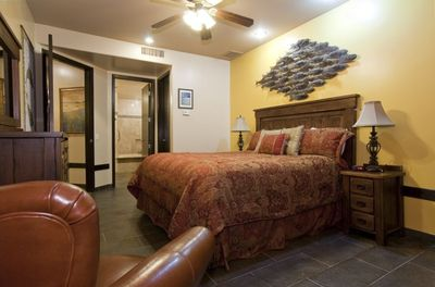 Master bedroom. King size bed.  Beach view while in bed!
