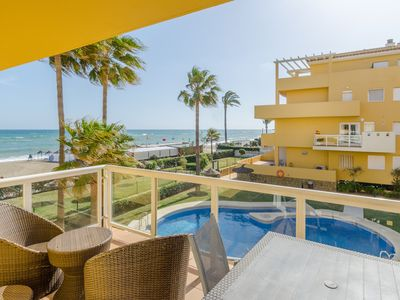 Photo for Beachfront apartment La Cala de Mijas - Arruzafa Playa I