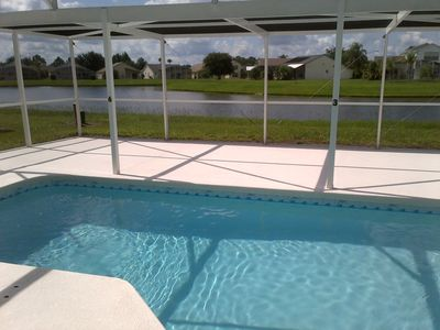 Photo for Waterfront Pool Home-Fully Upgraded 3BR, Free WIFI, Close to Disney