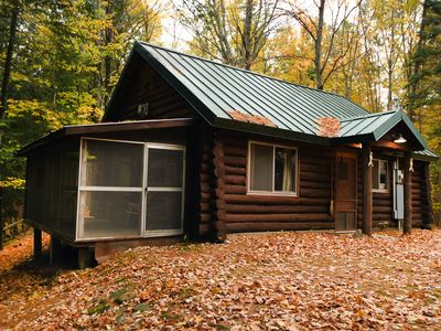 Photo for Peaceful Log Cabin Family Getaway in Central Lake