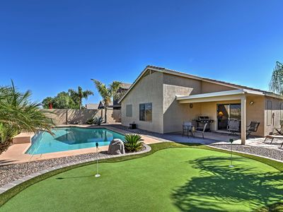 Photo for Quiet 4BR Goodyear House w/Private Pool&Putt Green