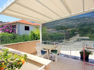 Photo for Studio flat with terrace Orebić, Pelješac (AS-641-d)