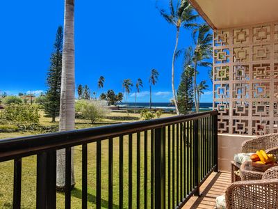 Photo for Remodeled Oceanview Poipu Condo with A/C, Pool, Gardens, Steps from the Ocean!