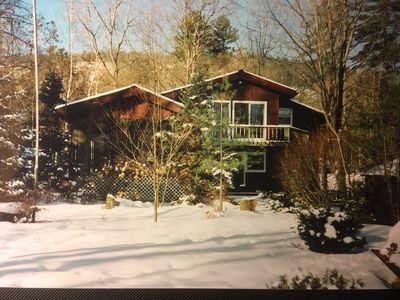 Lake House is rented year round.  There is central heat as well as central a/c.
