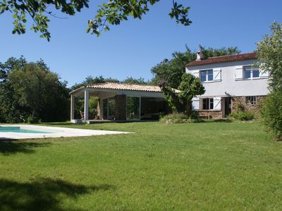 Photo for contemporary extension stone house, pool and garden