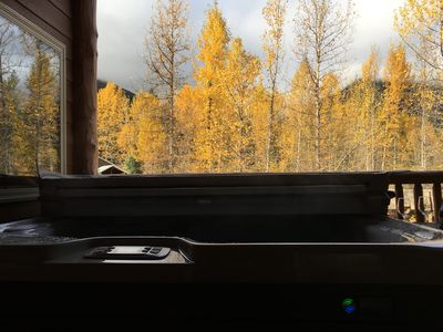 Fall Scene from Private Deck and Hot Tub