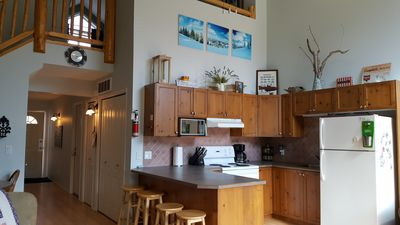 Photo for 2 bedroom + loft, 2 bathroom on Elk River with Great Mountain Views