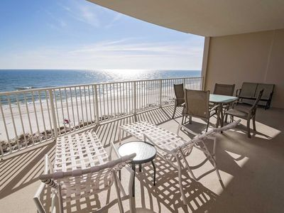 Photo for Gulf Front ~ 2 Bedroom ~ Sleeps 7 ~ Great Amenities/Location ~ Gulf Front ~ Regency Isle 604