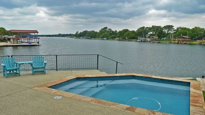 Photo for Heated Swimming Pool on Lake LBJ!  Boat slip available!