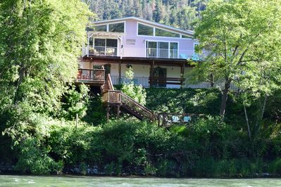 House view from across the Rogue River