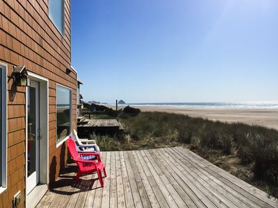 Photo for Stunning Oceanfront 3BR w/ Private Deck Overlooking Uncrowded Pristine Beach