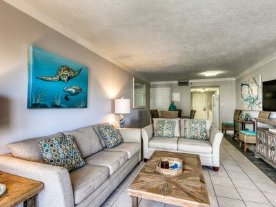 Photo for 2nd Floor Bright Gulf Front Condo w/ Views, Close To Entertainment